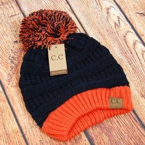 ec8ed875eab7ed C.C Accessories | Cc Beanie Twotone Hat Cap Wpom Auburn Broncos ...